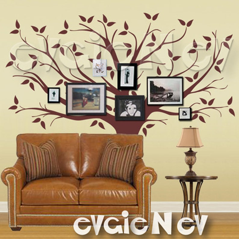 Family Tree Wall Decal Picture Frame Background Wall Decals  image 1