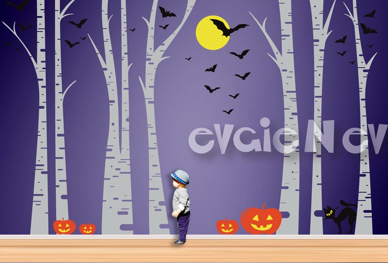 Halloween Spooktacular Forest Wall Decor-Spooky Birch Trees image 0