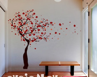 Wall Decals - Tree Wall Decal with Blossoms - Wall Stickers - TRBLS020R