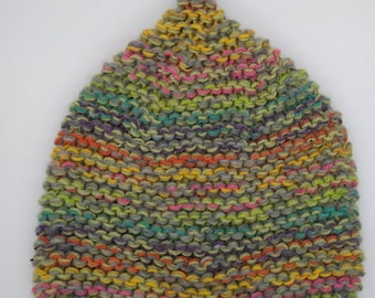 Nature Lovers Gift Women/'s Knitted Winter Hat Hand Knit Slouchy Beanie Mustard with Unique Oak Leaf /& Acorn Design