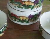 Vintage Kensington Mixing Bowls Tabletops-Unlimited-Set-Nesting-Bowls-STOVE-USABLE- Purple