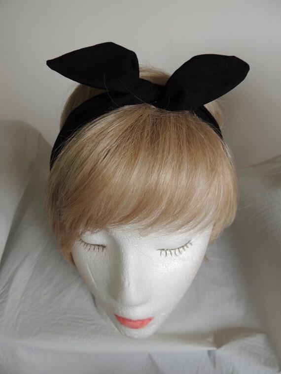 Schwarzen Draht Stirnband schwarz Bandana Twist Kopftuch | Etsy