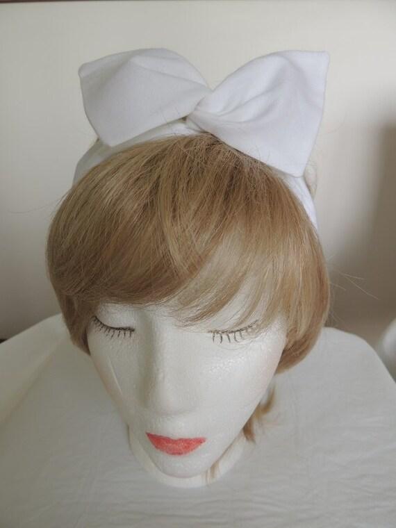 Weißen Draht Stirnband Twist-Kopftuch weiß Bandana | Etsy