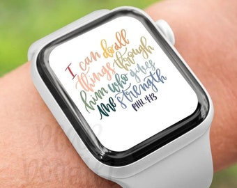 Apple Watch Wallpaper Background, Smart Watch face design, Apple Watch lock screen, Digital Download, Oh the Overwhelming Love of God Faith