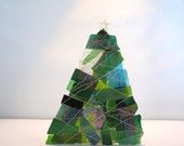 Green, Blue and Turquoise Christmas Tree Votive