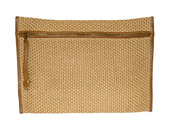 Bottega Veneta Handbag, Clutch, Pouch, Woven Rope and Leather, 1980s