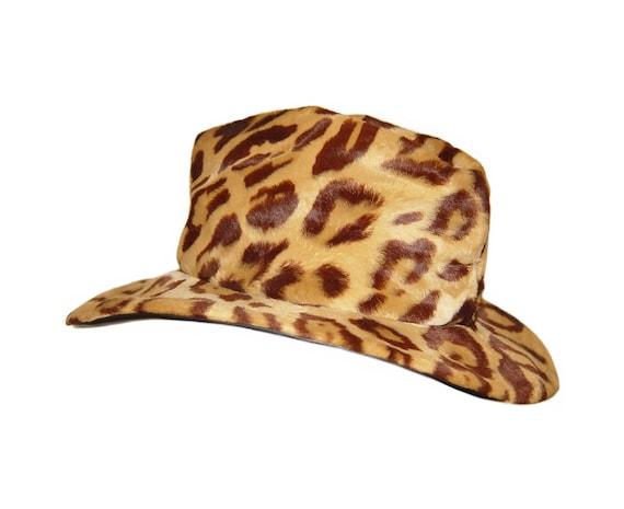 Animal Print Hat, Betmar, Bonwit Teller, 1960s