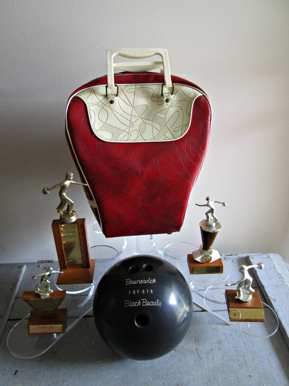vintage Brunswick bowling ball bag MCM Brunswick bowling bag Vintage bowling bag