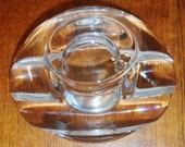 Orrefors Sweden Clear Art Glass Single Votive Candle