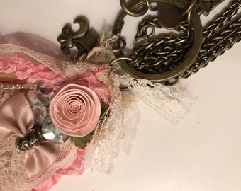 Tattered Lace OOAK necklace