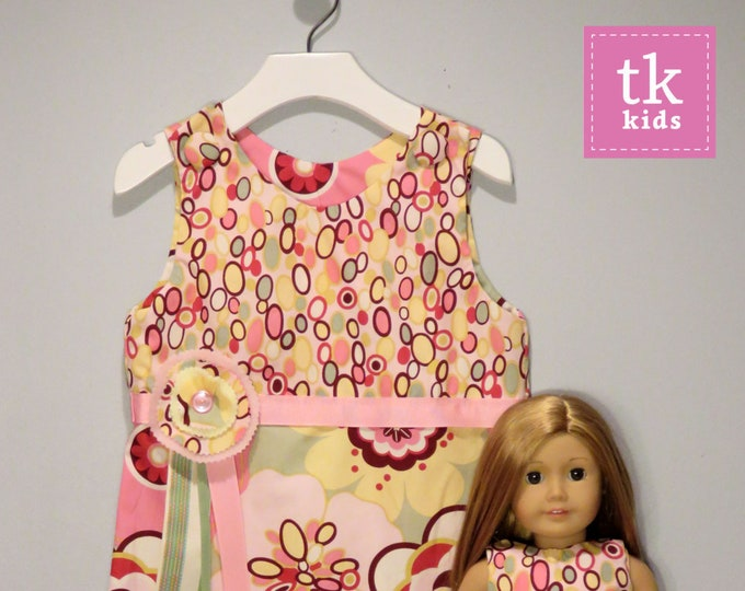 Size 2-8 Matching Girl and/or Doll Dresses - Bangle Kleo