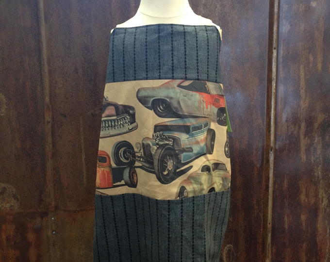 Kids Apron - Cars w/ Pockets