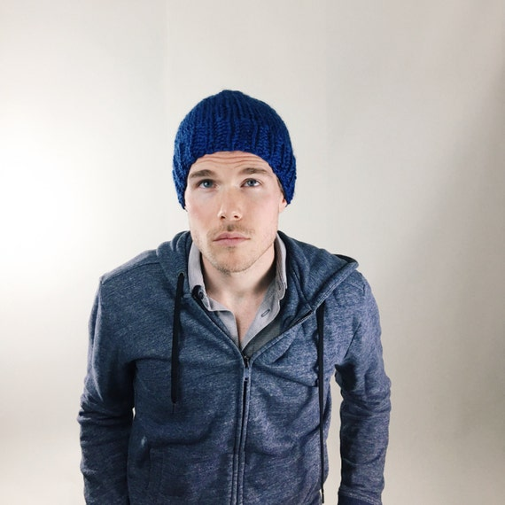 Sapphire Knit Beanie Teen   Adult Men Women Fitted Beanie  4084be03ddd