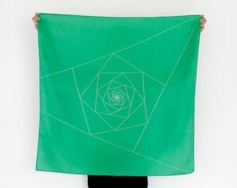 Free Shipping Worldwide / Triangles Furoshiki. Japanese eco wrapping textile/scarf, handmade in Japan