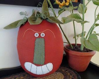 Handmade, Primitive, Fall Pumpkin, Pillow