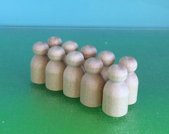 WOOD PEG DOLLS  -  10 x 3cms Baby **Free Pure Wool Felt Samples and Basic Pattern- on request**Steiner  toys **Doll Family