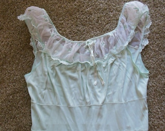 f8eb3adde27e Powder Blue Vintage Long Nightie By Adonna for Penny's, Size 38