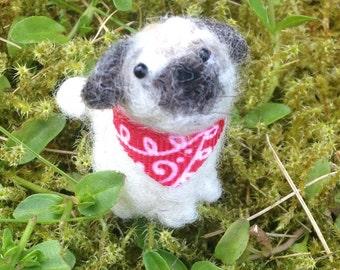 Miniature pug figurine, ready to ship