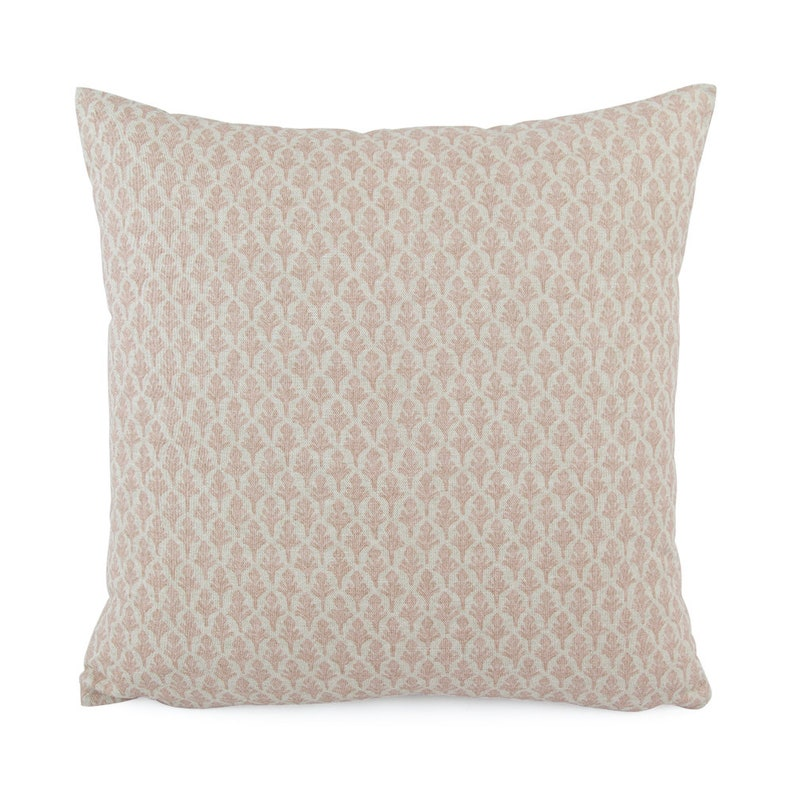 074f1dd2a309 Blush Pink and Beige Fleur de Lis Decorative Pillow Cover | Etsy