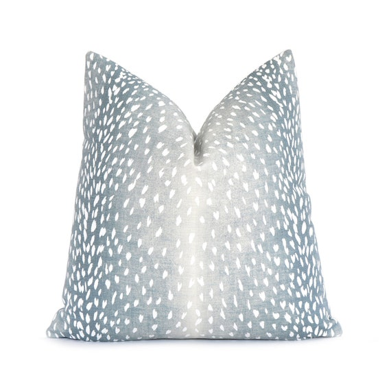 Spa Blue Antelope Pillow Cover with
