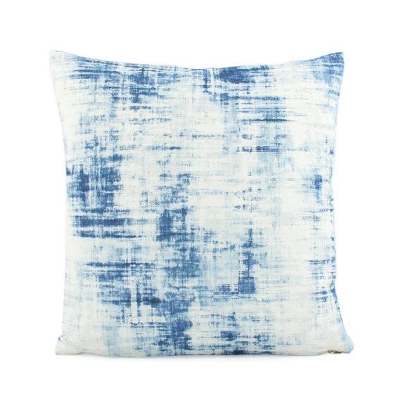 26x26 Pillow Cover Blue Euro Sham Cushion Throw Pillows Etsy