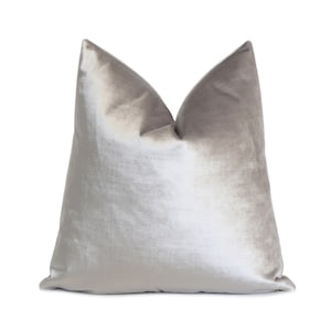 Velluto Sterling Euro Accent Cushion Covers Sofa Couch Living Room Home Decor Silver Gray Velvet Designer Throw Pillow Cover with Zipper