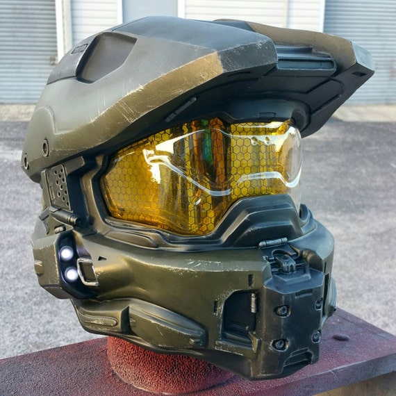 Ultimate Halo 4 Master Chief Helmet Replica Padded And Wearable W Leds Fan Made