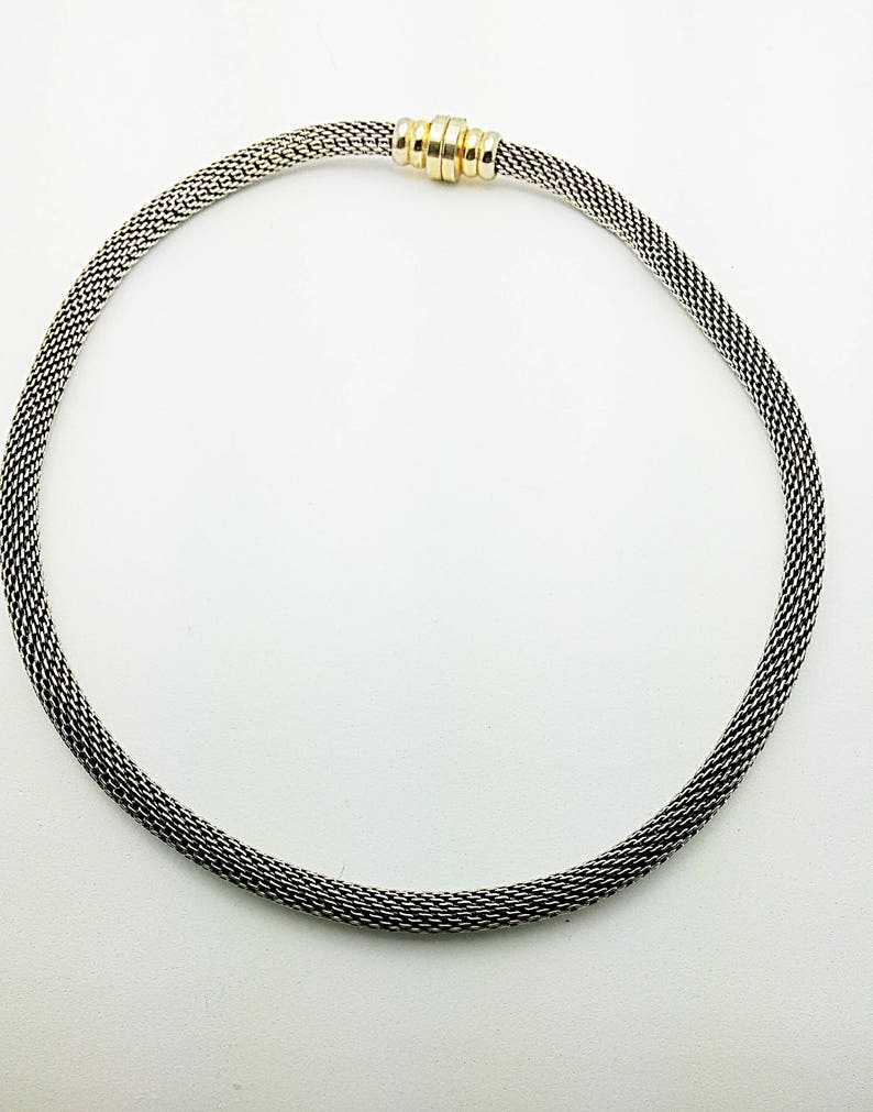 strong clip together connection Vintage thick snake rope unisex chain