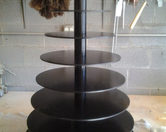 9 Tier Custom Made Large Cupcake Stand. Holds up to 275 cupcakes and can be converted to smaller stands.
