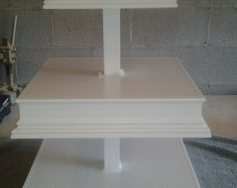 3 Tier Custom Made  Square Cake Pop Stand with Matching Sides.  Can Hold  Up To 272 Cake Pops.