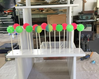 Tall Bleacher Seat Style Cake Pop Stand.  Holds 60 Cake Pops.