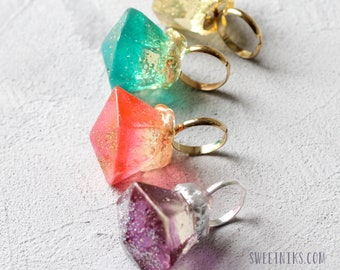 Ring Pop  in a Box - Bride and Groom Proposal Ring  - Upscale Ring Pop - Bridal Shower Party Favor - Fun Ring Proposal - 1 Ring