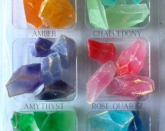 Kohakutou Gemstones - Japanese Candy - Candy Crystals - Vegan Candy  - Crystal Cake Decoration - Gemstone Lover Gift