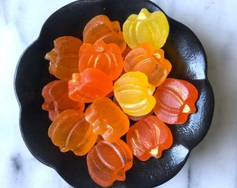Kohakutou - Pumpkins - Japanese  Candy - Halloween Gift  - Fall Hostess Gift - Thanksgiving Favor