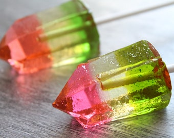 Watermelon Tourmaline Candy Lollipops (8PCS)