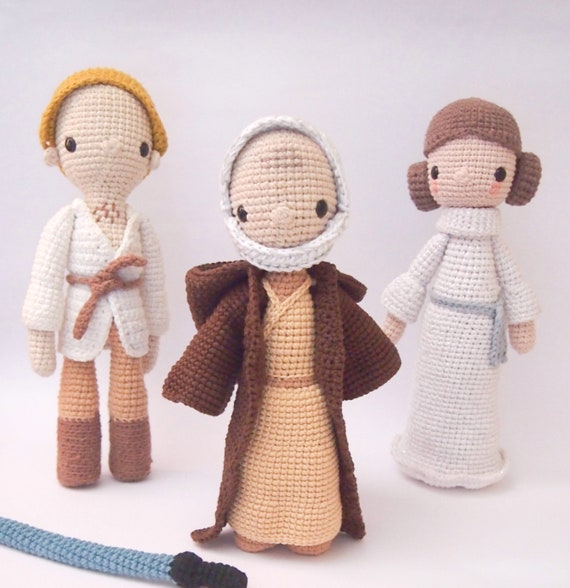 Obi-Wan Kenobi Princess Leia and Luke Skywalker  Crochet