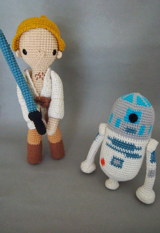 Star Wars Luke Skywalker And R2d2 Crochet Patternamigurumi Etsy