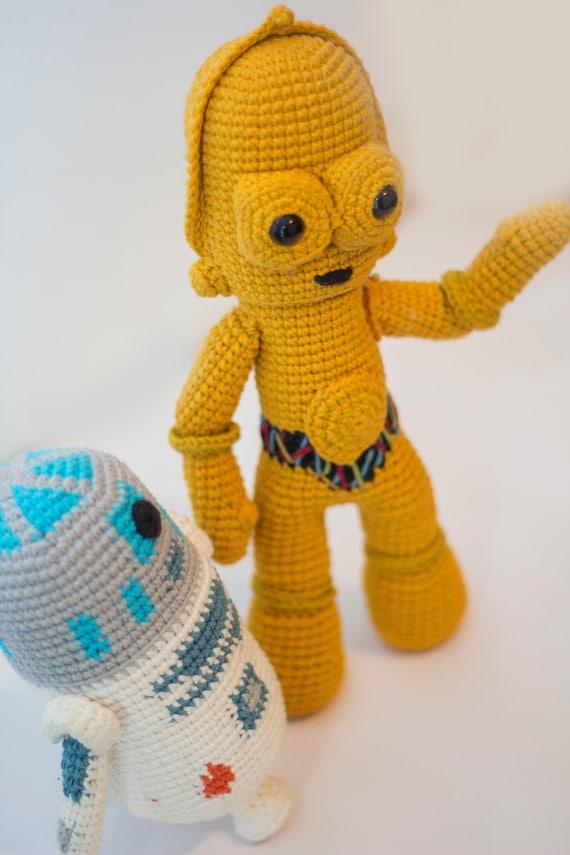 Star Wars R2D2 Crochet Pattern/Amigurumi | Etsy | 855x570