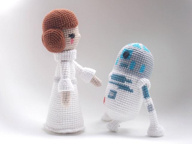 La Guerra de las Galaxias R2D2 Patrón de ganchillo/Amigurumi | Etsy