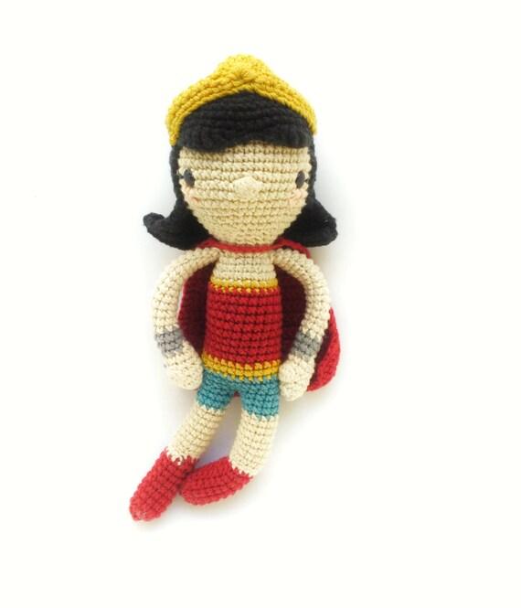 La mujer maravilla-Patrón de ganchillo/amigurumi | Etsy