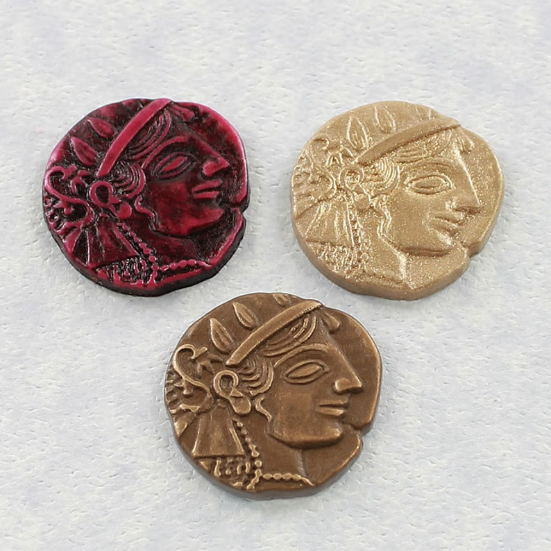 Ancient Coin Silicone Mold Roman Coin Mould Polymer Clay Resin Wax Paper PMC 310