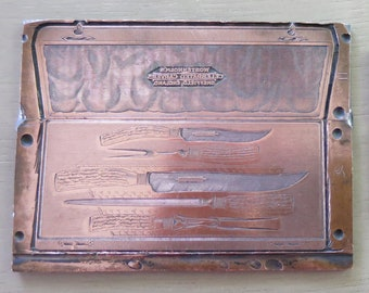 Antique Copper Letterpress Printing Plates ... : antique printing plates - pezcame.com