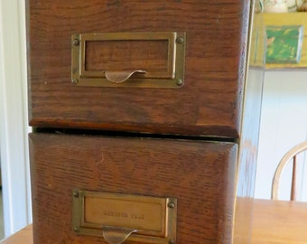 File Drawers Antique Oak Card File Cabinet Drawers In Metal Cabinet