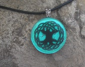 Celtic Knot Tree of Life Necklace Dichroic Glass Celtic Pendant