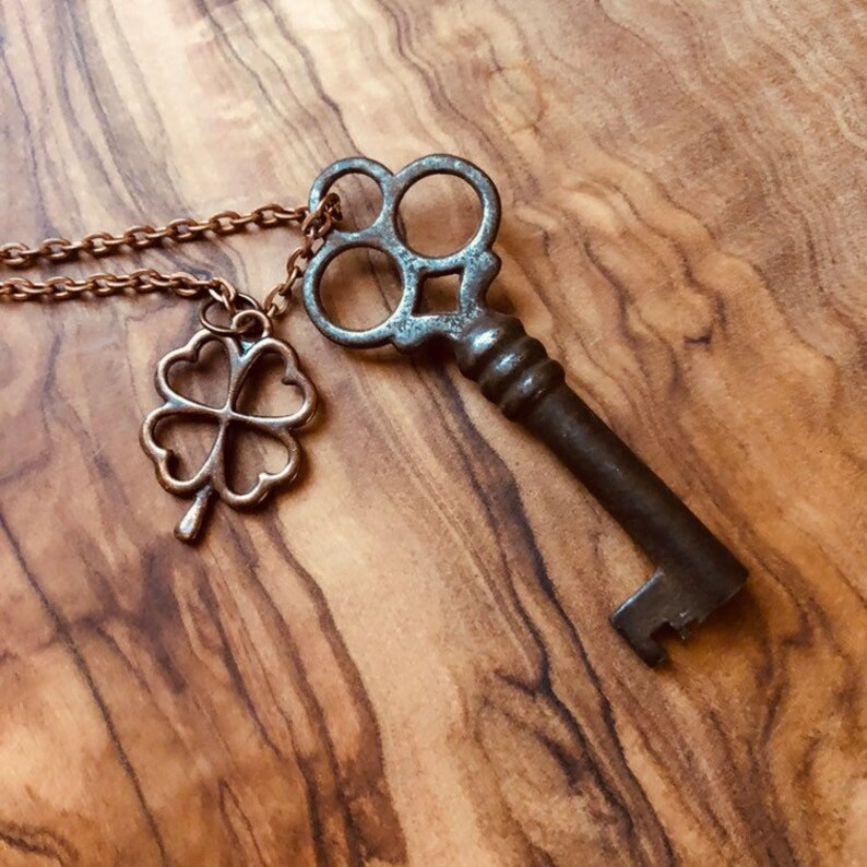 8a6f8ae1f469a Skeleton Key Necklace - Antique Key Necklace - Mens Key Necklace - Rustic  Key - Steampunk - Vintage Skeleton Key - Gothic Key - Boho Jewelry