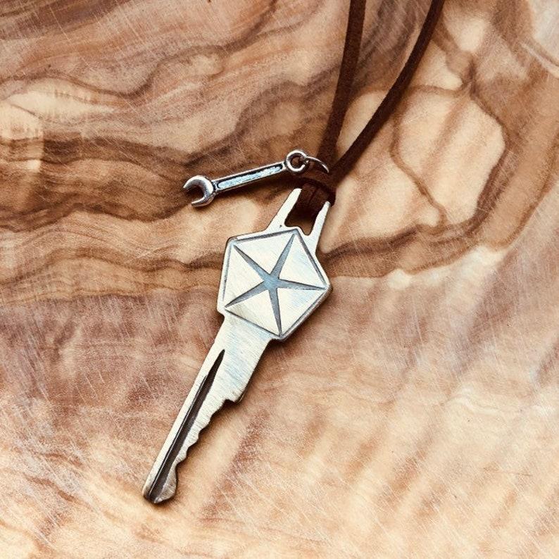 Vintage Chrysler Key Necklace - Vintage Dodge Key Necklace - PT Cruiser -  Car Key Necklace - Dodge Truck - Dodge Accessories - 4x4 - Ram