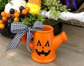 Halloween Jack O Lantern Watering Can. Halloween Tiered Tray Decor. 4 Tall