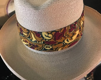 b9bf89d1c0d Vintage Straw Woven Dobbs Fedora. Dobbs Straw Fedora Hat. Jean Louis Dobbs  Straw Weave Hat. Manilan Weave. Small Hat. Size 6 7 8