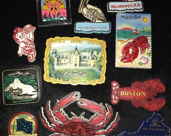 Vintage Magnet. Various Souvenir Magnets.Magnets. Refrigerator Magnets. Souvenir  Magnets. de7778b62