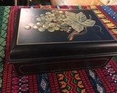 Vintage Wooden Jewelry Box. Andrea By Sadek Wooden Box. Wooden Jewelry. Box. Jewelry Box. Wood Box. Wooden Box. Andrea By Sadek